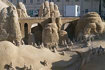 Písková krása na krásnolipském náměstí.