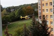 V Jílovém zasahoval vrtulník záchranářů