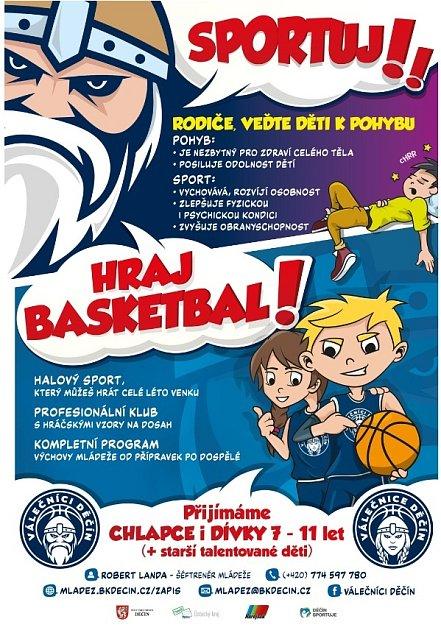 Nábor - basketbal.