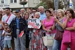 Za zachování zdravotní péče v Lužické nemocnici lidé demonstrovali už několikrát.