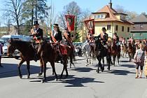 Mikulášovicemi projela tradiční velikonoční jízda, 2019.