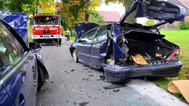 Dopravní nehoda Jiříkov