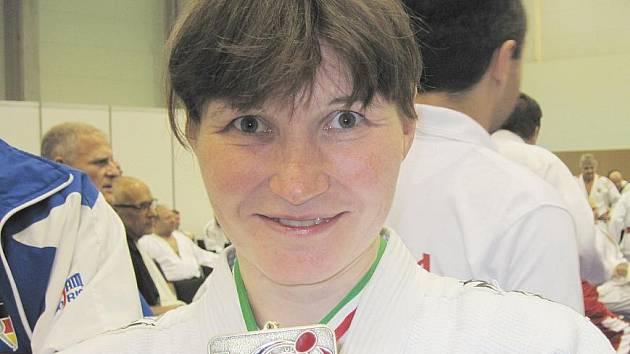 Lenka Königová se světovým bronzem.