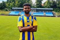 Abneet Bharti, který hrával v mládeži Realu Valladolid, se chce v druholigovém Varnsdorfu vrátit do bývalé formy.