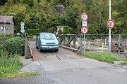 Mostek přes Jílovský potok v Dolním Oldřichově.