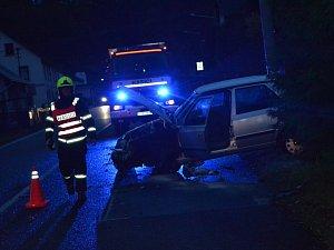 Ranní nehoda komplikovala provoz na silnici 1/13 v Martiněvsi na Děčínsku