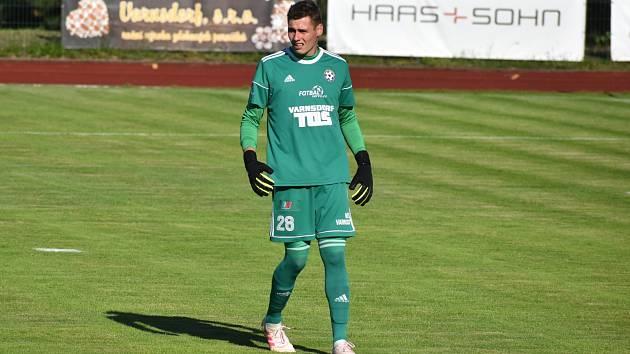 Martin Vaňák, mladý brankář FK Varnsdorf.