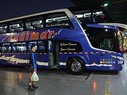 Chilské autobusy jsou nesrovnatelně luxusnější než v zemích střední a severní Jižní Ameriky.