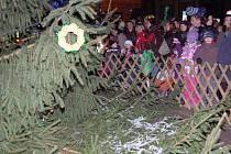 Slavnostní rozsvěcení stromu.