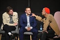 Talk show Silný řeči s Kovym, Jankem Rubeše a Benem Cristovao.