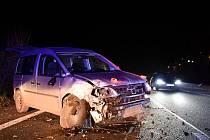 Nehoda u Choratic na Děčínsku.