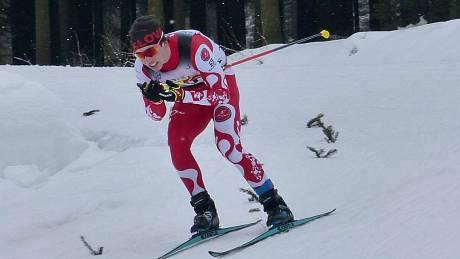 Daniel Hozák, rodák z Děčína, vybojoval na lyžařském MČR kompletní sadu cenných kovů.