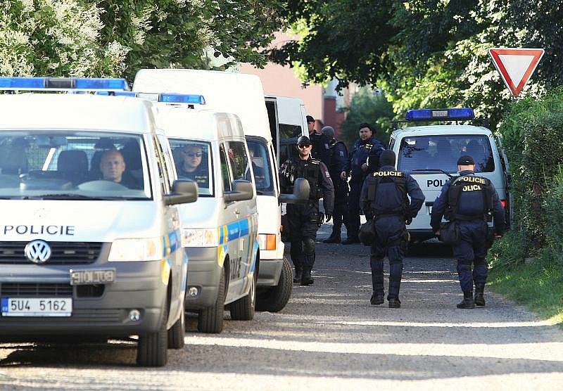 Policie ve Varnsdorfu.