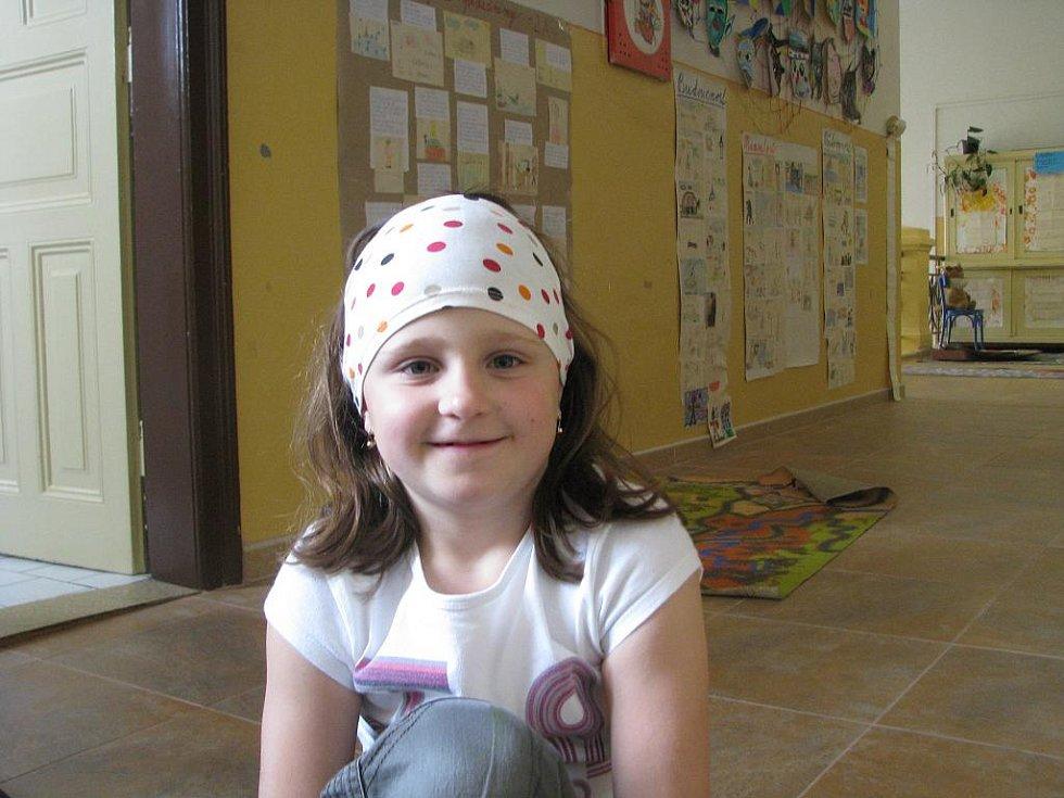 Tereza Raabová, 8 let: Je to svátek, protože skončila druhá světová válka.