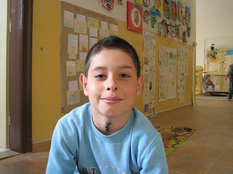 Michal Rychnovský, 8 let: O tom mi vyprávěl táta, když jsem byl malý, je to konec války.