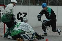 PRVNÍHO vítězství se dočkali hokejbalisté Bazzy Děčín ve druhém kole. Doma porazili 5:3 ČP Karlovy Vary.