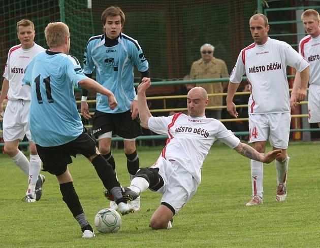 Divizní derby na děčínském hřišti vítěze nepoznalo.