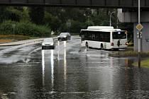 Déšť opět zkomplikoval život v Děčíně.