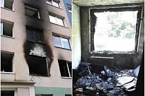 Požár v panelovém domě. Ilustrační foto.