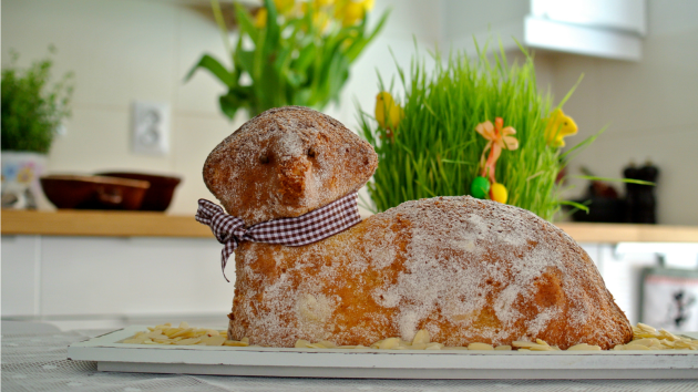 Velikonoční beránek s moukou Babiččina volba Dortová