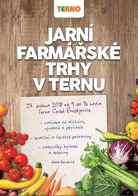 Jarní farmářské trhy se konají ve vstupním vestibulu supermarketu Terno.