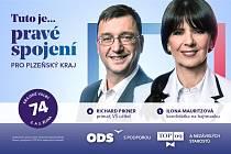 Občanská demokratická strana s podporou TOP 09 a nezávislých starostů