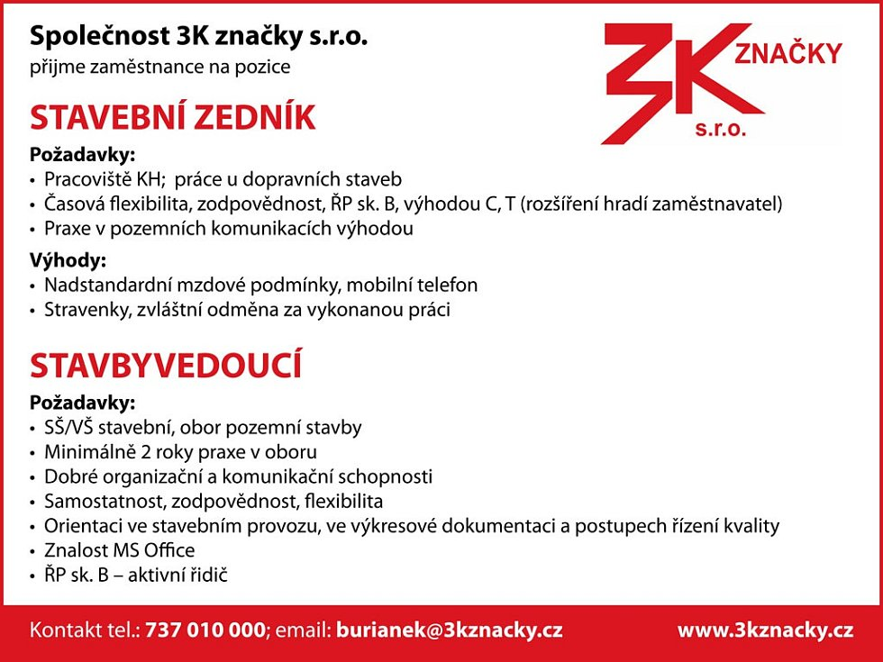 Reklama Denik Spolecnost 3k Znacky S R O Fotogalerie