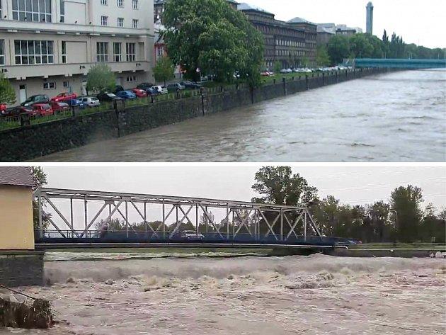 Ničívé povodně vroce 1997vOstravě.