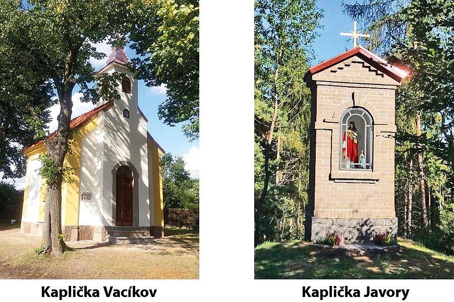 kaplička Vacíkov a kaplička Javory