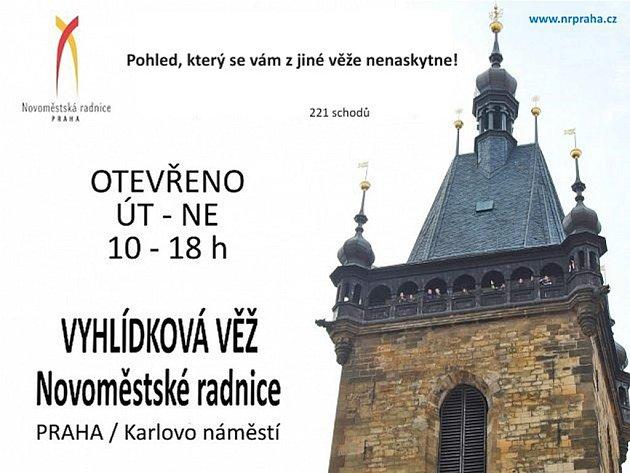 Vyhlídková věž Novoměstské radnice.
