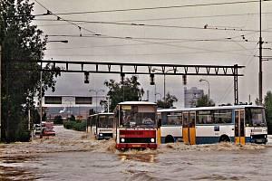 Ničivé povodně v roce 1997 - Nová Ves Vodárna.