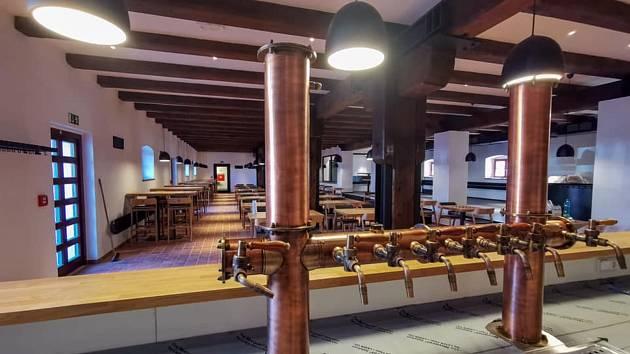 Náhled do pivovaru a pivovarské restaurace.