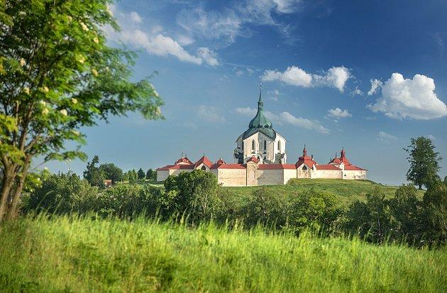 Město Žďár nad Sázavou. Poutní kostel sv. Jana Nepomuckého na Zelené hoře