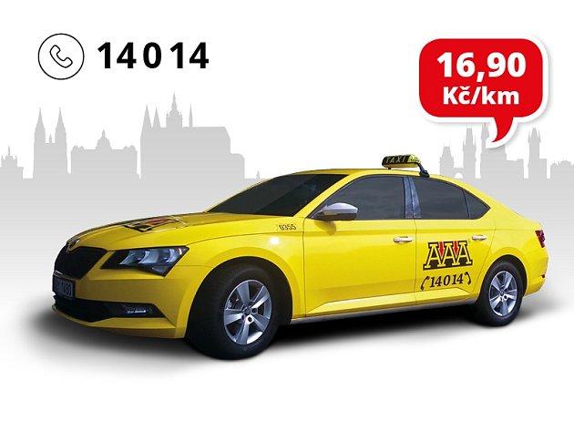 Nejlevnější z AAA Taxi se slevou 40% - volejte 14 014.
