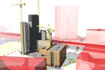 3D model nové vídeňské čtvrti Seestadt Aspern