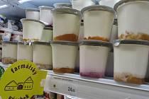 Označení regionálních výrobků v supermarketu Terno.