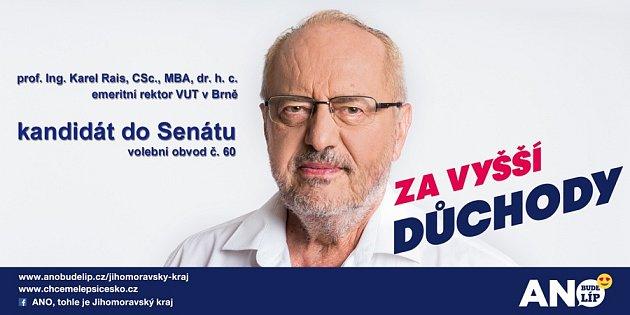 prof. Ing. Karel Rais, CSc, MBA, dr.h.c. emeritní rektor VUT vBrně