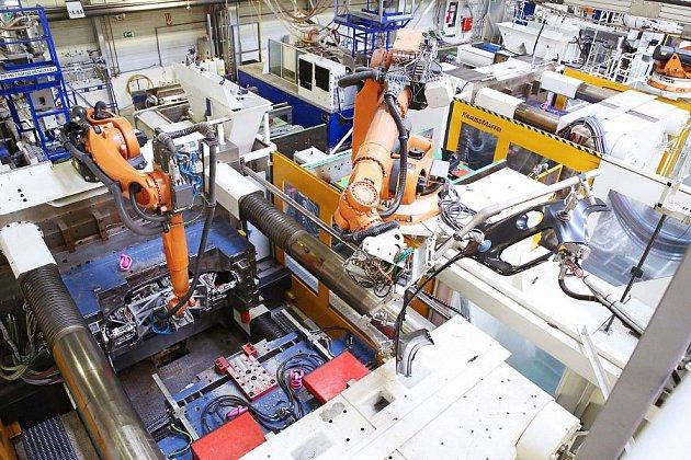 Pohled do výrobní haly v Magně Nymburk