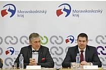Setkání ministra průmyslu a obchodu Jiřího Havlíčka s hejtmanem Moravskoslezského kraje Ivo Vondrákem.