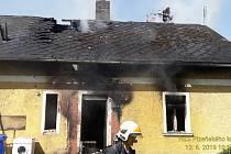 Požár rodinného domu