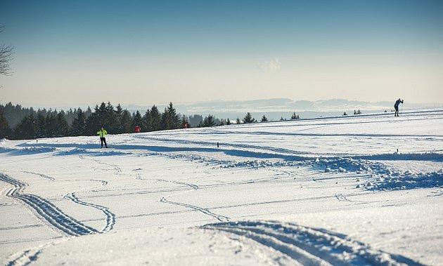 Město Žďár nad Sázavou. Upravené lyžařské tratě