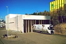 Kapotáž vykládky dřevního recyklátu a drtícího zařízení ZENO
