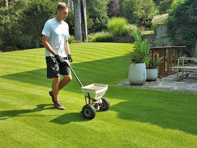 Aby byl trávník na pohled zelený, potřebuje vyživit dostatkem draslíku