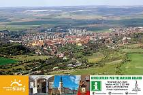Letecký snímek Slaný.