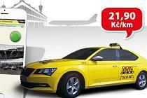Mobilní aplikace pro Android a iOS nabízí výhodnou sazbu 21,90 Kč/km.