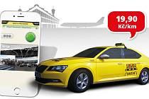Mobilní aplikace pro Android a iOS nabízí výhodnou sazbu 19,90 Kč/km.