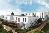 Zahradní město Bučovice dokončuje hrubou stavbu