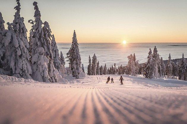 Foto: lyžování na Hochfichtu nabízí jedinečné výhledy