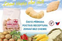 Extrudované křupky FAMILY SNACK – zdravá přirozená potravina