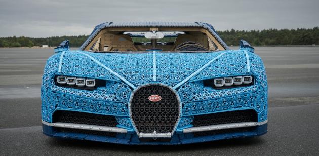 VKladně vnikl imodel Bugatti Chiron vživotní velikosti.